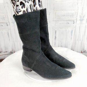 Calvin Klein Suede Leather Pointy Boots
